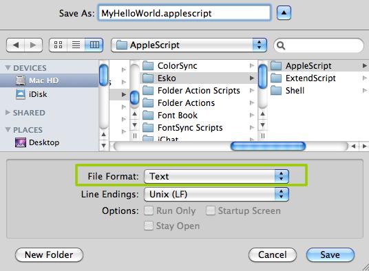 writing applescript