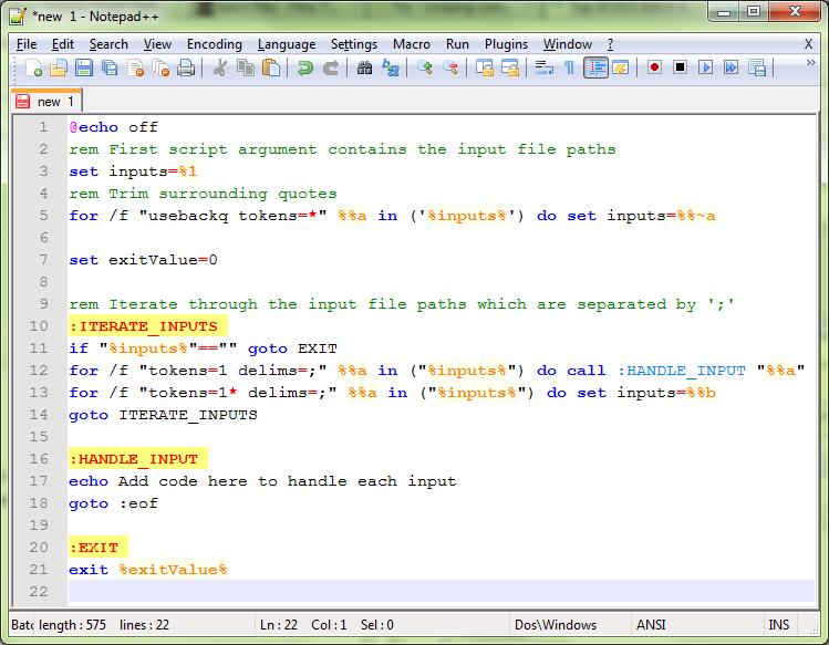 how to write a batch script to copy files